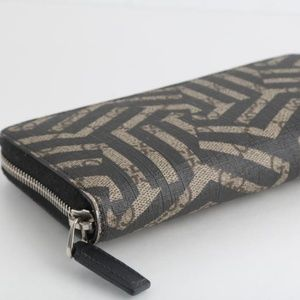 Gucci Monogram Coated Canvas Long Zippy Wallet